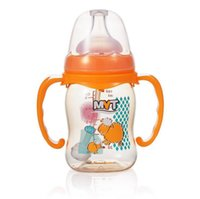 PPSU Materiale Baby Feeding Bottle 160mL Con maniglia modello Cartoon Unbreak Light Safe