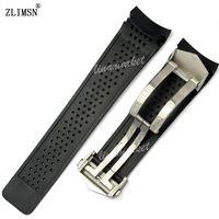 Посмотреть Band Zimsn Sport Watch Bands 22 мм 24 мм Наблюдательные баты Черный Дайвинг Силиконовые резиновые отверстия Облюдения за ремешком Черные Золотые бассейны