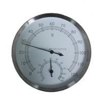 5 بوصة غرفة ساونا الفولاذ المقاوم للصدأ Hyprometer ميزان الحرارة الحرارية الرطوبة وول تزايد