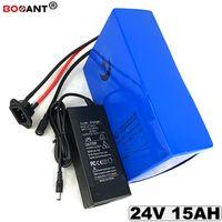Batteria al litio ebike 24V 15AH di trasporto libero per Bafang BBSHD 350W 500W Motore pacco batteria agli ioni di litio per scooter elettrico 24V 15AH