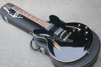 جديد وصول مخصص للتسوق دوف غروهل التوقيع 335 الغيتار الكهربائي ، أسود DG335 الغيتار الأسود ، حرية الملاحة