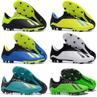 2018 Nouvelles chaussures de football ACE 18 Purechaos FG vertes noires Chaussures de football en plein air X ACE Tango 18.3 Indoor TF PureControl chaussures de football