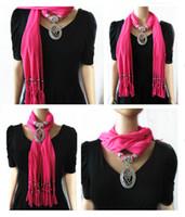 Natursten Scarf Halsband Kvinnor Tassel Sjal Halsband Charm Soft Bohemian Smycken SCAF Gift för vänner
