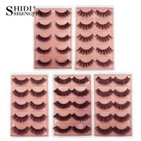 ShidishangPin 5 par norek rzęsy naturalne długie rzęsy 3d 1 cm-1.5cm 3D norek rzęsy ręcznie wykonane 3d fałszywe rzęsy