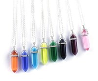 Wholesale Crystal Necklace Natural Stone Hexagonal Pendant N...