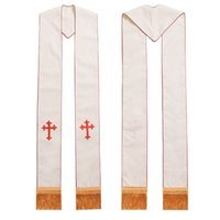 1pc Formal Priest Stole Church Clegry Cross Embroidered Gold...