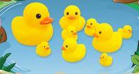 Venta al por mayor Baby Bath Water Juguete Suena Amarillo Goma Patos Juguetes Niños Baño Niños Natación Playa Regalos Gear Baby Kids Bath Water Toy LCT 001