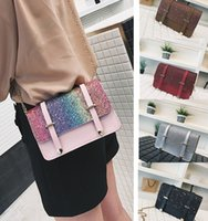DHL Fashion Shoulder Bags Sequin Small Square Bag Women Chai...