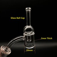 2mm Dicke Flat Top 20mm OD Quartz Banger mit Glas Carb Cap 10/14 / 18mm Männlich Weiblich 45 90 Grad Quarz Bangers Nails