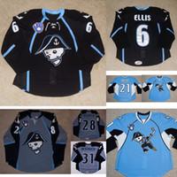 AHL Milwaukee Admirals Herren Damen Kinder 6 Ryan Ellis 28 Janne Niskala 100% Stickerei Benutzerdefinierte Eishockey Trikots Goalie Cut Goalit
