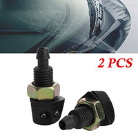 2Pcs Car Window Washer Sprayer Nozzle Black Plastic Universa...