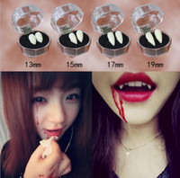 Korkunç Eğlenceli Palyaço Elbise Vampir Dişleri Cadılar Bayramı Partisi Protez Sahne Zombi Şeytan Fangs Diş Diş Ile Sakız