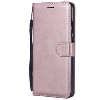 Geldbörse Mobiltelefonfälle für Huawei y9 / genießen 9 plus Flip Back Cover Pure Color PU Leder Mobile Bags Coque Fundas