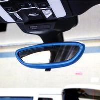 سيارة التصميم الداخلي غطاء مرآة الرؤية الخلفية غطاء الديكور تقليم الشريط 3d ملصق الشارات لبورشه كايين macan panamera الملحقات