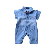 Lovely Summer Denim Baby Boy Clothes Romper Jumpsuit Onesies...