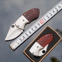 التخييم سكين صغير المحمولة البسيطة مفتاح سلسلة سكين الخشب مقبض الفولاذ الصلب الطي سكاكين الجيب edc سكينة في الهواء الطلق والعتاد