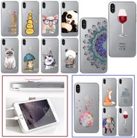 For Apple iphone X cases fashione cartoon TPU painted clear ...