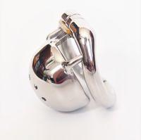 Erkek Küçük İffet Kafes Ekstra Kısa Boyut Erkekler Paslanmaz Çelik Kilitleme Bant Cihazı 4 Opsiyonel Ergonomik Halkalar Seks Oyuncak DoctorMonalisa C150-1