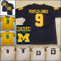 86403709f New Arrival. Michigan Wolverines  9 Donovan Peoples-Jones 13 Eddie McDoom 88  Grant Perry ...