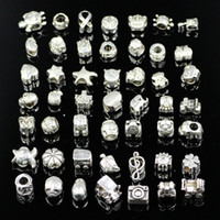 Mix Style Big Hole Loose Beads charm For Pandora DIY Jewelry...