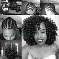 Jumpy Wand Curva Cabelo Crochet Tranças Freetress Curly Cabelo Tivôs / Parte Bounce Twist Jamaican Afro Kinky Trançando Cabelo