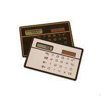 Protable Mini Calculadora solar Pocket Slim Tarjeta de crédito Calculadoras Estudiante Novelty Pequeño Slim Office regalos FFA869 300PCS