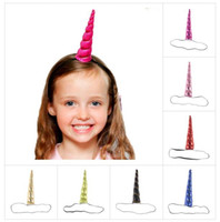 Unicorn Horn Headwear Kids Infant Cartoon Hair Bands Bonus D...
