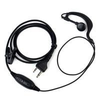 5x G-Shape auricolare auricolare PTT MIC per Midland Radio XT18 G5 / 6/7/8 LXT114 XT511