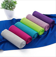Double Layer Ice Towel Solid Colors Sports Cooling Towel Qui...