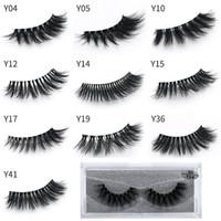 Mais recente maquiagem 3D Cílios Olho cílios Extensão Plástica Transparente Sexy 10 estilos Cílios Cheia Tira Lashes DHL grátis