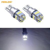 FEELDO 40PCS White Car T10 194 168 18LED 3014 Chip Electrodeless Wedge LED Bulb Light Reading Light Lamp Bulb DC12V #5628