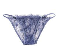 Transparente Damenschriftsätze der reizvollen Unterwäsche der weiblichen Spitze der niedrigen Taille heißen extremen Versuchung