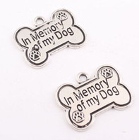 60 Unids aleación Pet Dog Bone Anchor Charms Encantos de plata Antiguos Colgante Para el collar de La Joyería Que Hace hallazgos 25x19mm