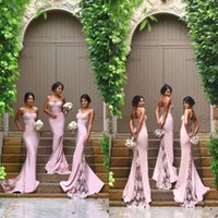 Sexy Spaghetti Mermaid Bridesmaid Dresses 2019 Vintage Lace ...