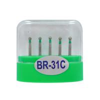 1 paquete (5pcs) BR-31C Burs dentales del diamante medio FG 1.6M para Handpiece de alta velocidad dental Muchos modelos disponibles