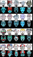 Sonido Reactive EL Máscara de Halloween Cosplay Led Disfraz Iluminado Fiesta Máscaras Completas Horror Scary Costume Fancy Dress apoyos 20 estilos eligieron