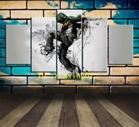 Cool Music Background, 5 Pieces Home Decor HD Printed Modern ...
