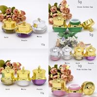 5/10 / 15g Crown Form Kunststoff Mehrwegflaschen Leere Topfflaschen Make-Up Glas Reise Gesichtscreme Lotion Kosmetische Container