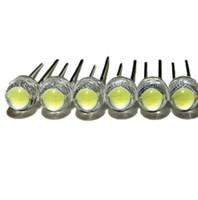 100pcs / lot brancos 5 milímetros F5 Chapéu de Palha LED contas lâmpada super brilhantes 6-7LM grandes diodos emissores de luz chip de núcleo (LEDs) para luzes DIY