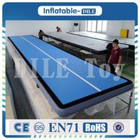 أعلى جودة زرقاء 4x1x0. 2m Pink Inflatable Air Track قابل للنفخ Tumblle Track Airtrack قابل للنفخ للبيع