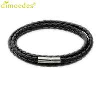 Bracelets Gussy Vie En Gros Nouveau Hommes De Mode En Cuir Charme Bracelet Corde Fait Main Ronde Jan17