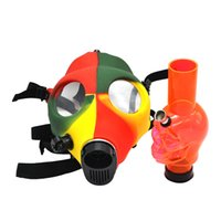 Face Gas Mask Bong Rasta Color Silicone Acrylic Skull Water ...