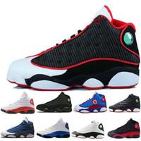 buy popular 57c71 00e53 Hohe qualität günstige neue 13 13 s männer frauen basketball schuhe  gezüchtet schwarz braun blau weiß