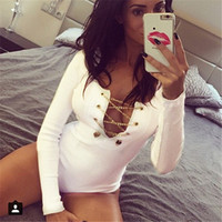Plus Size 2018 Rompers Womens Slim Fit Playsuits Long Sleeve...