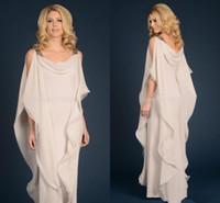 Grecian إلهة الشيفون الأمهات اللباس مع الأشرطة رخيصة الطابق طول طويل أنيق المرأة اللباس الأم من اللباس العريس العروس