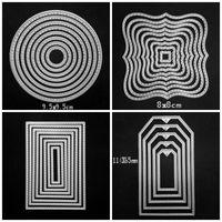 قطع يموت بطاقة المنزلية ورقة دائمة الحرفية الديكور قالب مستطيل مربع مستطيل الشكل الهندسة الشكل القصاصات diy العفن 8ws4 bb