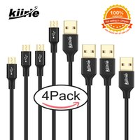 Kiirie Micro USB Cable Set 4 Durable Data Lines 1x6ft+ 2x3ft+...