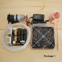 Chauffage par induction 1000W ZVS chauffage par induction carte PCB machine de chauffage haute fréquence métal fondu + bobine Mayitr + pompe