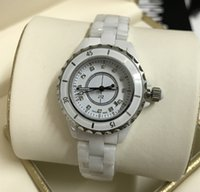 Luxury Brand Lady White Black Ceramic Watches High Quality Q...