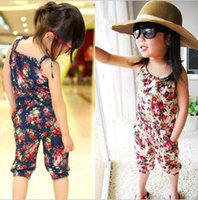 Wholesale baby clothes Girl' s Floral Jumpsuit Suspender...